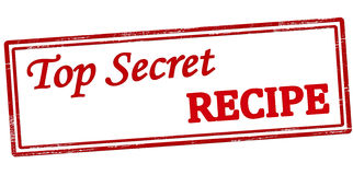 Top secret recipe Royalty Free Stock Images