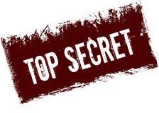 TOP SECRET on red retro distressed background. Illustration image Stock Image