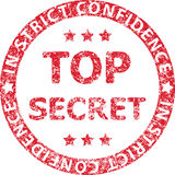 Top secret red rubber stamp with caption IN STRICT CONFIDENCE Stock Photos