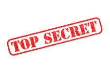 TOP SECRET. `TOP SECRET` Red Stamp over a white background Stock Photo