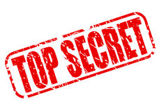 Top secret red stamp text. On white Stock Photos