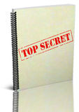 Top Secret. Report notebook illustration. Image  over white background. PNG available Stock Photography