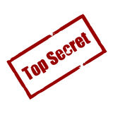 top secret Rubber ink stamp Stock Image