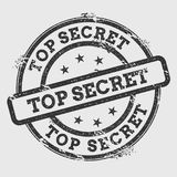Top Secret rubber stamp isolated on white. Stock Image