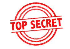 TOP SECRET Rubber Stamp. Over a white background Stock Photos