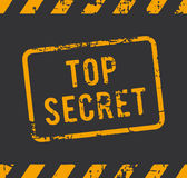 Top secret rubber stamp. Rubber stamp with the text top secret Royalty Free Stock Image