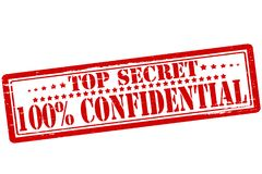 Top secret. Rubber stamps with text top secret inside,  illustration Royalty Free Stock Photography