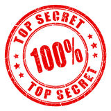 Top secret rubber vector stamp Stock Images