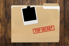 Top Secret. Secrecy File Confidential Paper Document Clip stock photos