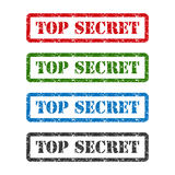 Top secret set rubber stamp isolated on white background Stock Image