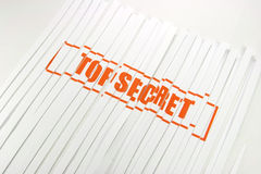 Top Secret shredded paper Stock Photography