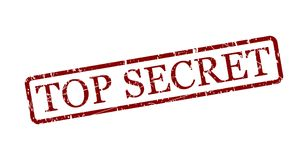 Top secret. Simple top secret red stamp in a frame isolated on white. Vector image Royalty Free Stock Images