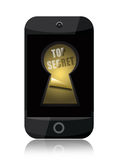 Top secret on smartphone screen Stock Photos