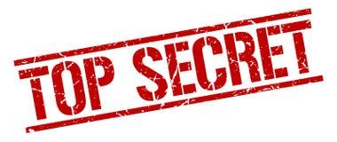 Top secret stamp. Top secret square grunge sign isolated on white. top secret vector illustration