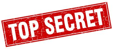 Top secret stamp. Top secret square grunge stamp. top secret sign. top secret stock illustration