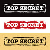 Top Secret Stamp. A Top Secret Stamp Set Royalty Free Stock Photo