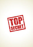 Top secret stamp background Stock Photography
