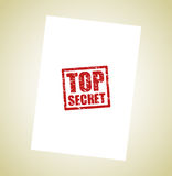 Top secret stamp background Stock Photo
