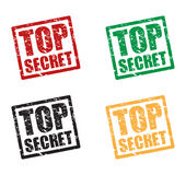 Top secret stamp background Royalty Free Stock Photos