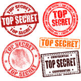 Top secret stamp collection. Top secret grunge stamp collection on white background, vector illustration Royalty Free Stock Photos
