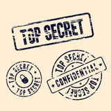 Top secret stamp set Stock Images