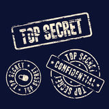 Top secret stamp set Stock Photography