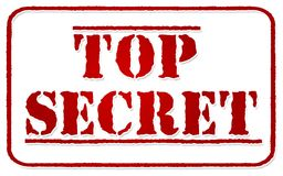 Top secret stamp  on white Royalty Free Stock Image