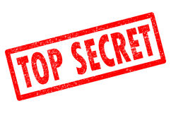 Top secret stamp on white background. Top secret stamp sign Royalty Free Stock Photos