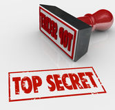 Top Secret Stamped Red Grungy Words Secret Private Restricted In Royalty Free Stock Photo