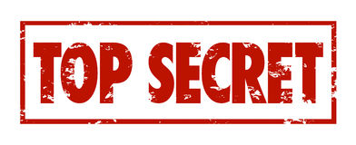 Top Secret Stamped Red Grungy Words Secret Private Restricted In. Top Secret words stamped in red ink to restrict access to confidential, sensitive or classified Royalty Free Stock Image