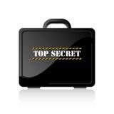 Top Secret Suitcase. Black suitcase containing top secret document Stock Photography