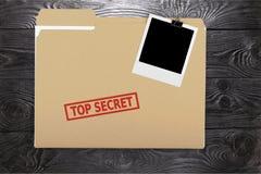 Top secret. Secrecy file confidential paper document paper clip Stock Photo
