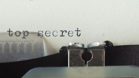 Top secret - Typed on a old vintage typewriter.  stock video