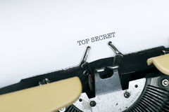 TOP SECRET. Typed by typewriter Royalty Free Stock Photos