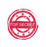 `Top secret` vector rubber stamp. Label design ready made template Vector Illustration
