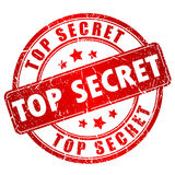 Top secret vector stamp. Top secret vector ink stamp Stock Photos