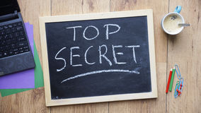 Top secret written Royalty Free Stock Images