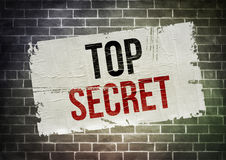 TOP SECRET. Written poster concept Stock Photo