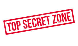 Top Secret Zone rubber stamp Stock Image