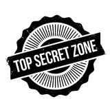 Top Secret Zone rubber stamp Royalty Free Stock Photography