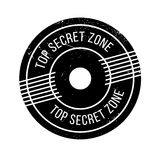 Top Secret Zone rubber stamp Stock Photography