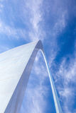 Top section of the Arch  St Louis Royalty Free Stock Photography