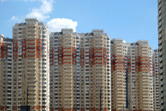 Top section of modern apartment buildings Royalty Free Stock Image