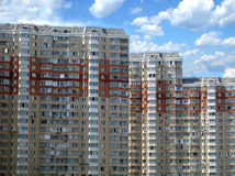 Top section of modern apartment buildings Stock Image