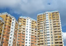 Top section of modern apartment buildings Stock Photos