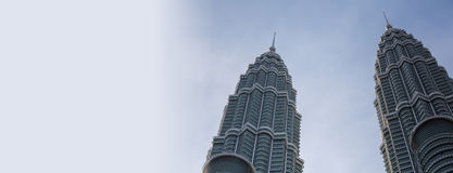 Top section of Petronas Twin towers Stock Image
