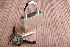 Top security. The locking hinged with three keys Royalty Free Stock Image