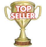 Top Seller Best Selling Product Trophy Prize Royalty Free Stock Image