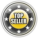 Top Seller Button Vector, Easily Editable. Stock Photo