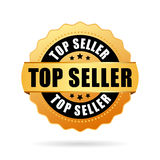 Top seller gold vector icon. Illustration royalty free illustration